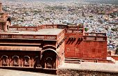 Architectural detail of Mehrangarh Fort Museum, Jodhpur, Rjasthan, India