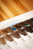 Hair Dye Colour Swatch