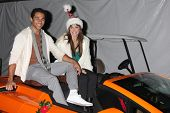 LOS ANGELES - DEC 1:  Corbin Bleu, Karina Smirnoff at the 2013 Hollywood Christmas Parade at Hollywo
