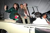 LOS ANGELES - DEC 1:  Kate Linder, Bryton James, Melissa Orday at the 2013 Hollywood Christmas Parad