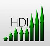 Chart Illustrating Hdi Growth, Macroeconomic Indicator Concept