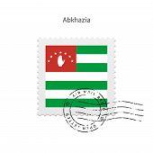 Abkhazia Flag Postage Stamp.