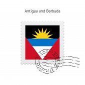 Antigua and Barbuda Flag Postage Stamp.