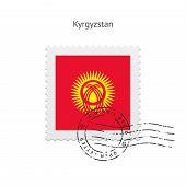 Kyrgyzstan Flag Postage Stamp.