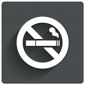 image of tobacco smoke  - No smoking sign - JPG