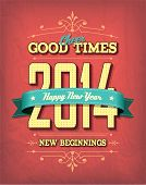 2014 Happy New Year Calligraphy design