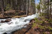 picture of ural mountains  - Stormy mountain river on the south of the Ural Mountains - JPG