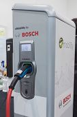 Bosch Charging Station At Solarexpo 2014 In Milan, Italy