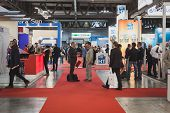 People Visiting Solarexpo 2014 In Milan, Italy