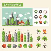 Ecology Infographics. Vector Set