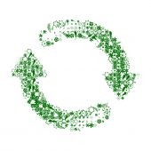 Recycle Green And White