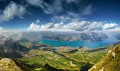 Panoramic View on Lake Thun