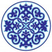 Blue Oriental Ottoman Design Twenty-three Version