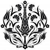 Oriental Ottoman Design Black