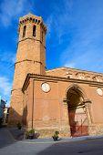 Carinena Zaragoza church Nuestra Senora de la Asuncion in Aragon Spain