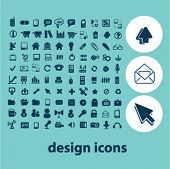 web design icons, signs set, vector