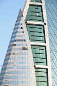 MANAMA, BAHRAIN - DECEMBER 26, 2007: Bahrain World Trade Center. It is a 240-meter high twin tower c