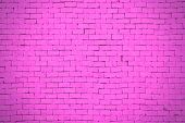 Background Of pink Brick Wall Pattern Texture.