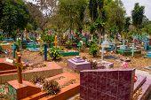 Central american colorful graveyard, El Salvador