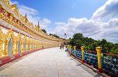 Sagaing, Myanmar- October 9, 2013 : U Min Thonze Pagoda