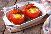 Baked Tomatoes Stuffed With Egg