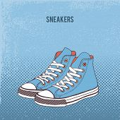 Pair of sneakers. Vector Illustration