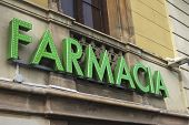 Farmacia Sign In Barcelona. Spain