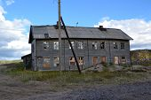 foto of murmansk  - Old wood house in Teriberka Murmansk region - JPG