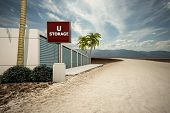 picture of self-storage  - illustration of a self storage in the desert - JPG