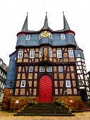 Townhall with 10 Towers in Frankenberg Eder, Germany
