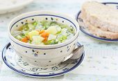 Cabbage And Summer Vegetables Soup