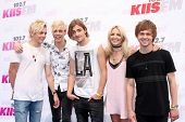 LOS ANGELES - MAY 10:  R5, Ross Lynch, Riker Lynch, Rocky Lynch, Rydel Lynch, Ellington Ratliff at the 2014 Wango Tango at Stub Hub Center on May 10, 2014 in Carson, CA