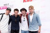 LOS ANGELES - MAY 10:  Lewi Morgan, Charley Bagnall, Jake Roche, Danny Wilkin, Rixton at the 2014 Wa