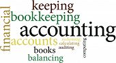 the word accounting in word clouds