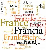the France in word clouds