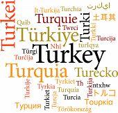 Turkey in word clouds