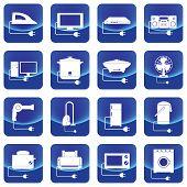 home electric appliances button vector