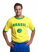 Attractive Guy With Brazilian Jersey Laughing At Camera