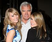 LOS ANGELES - MAY 6:  Kim Matula, John McCook, Linsey Godfrey at the Bold & Beautiful Celebrates Emm