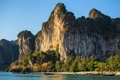 Cliff at the Railay peninsula in Krabi, Thailand