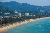 Western coastline of Phuket island, Karon beach, Andaman sea, Thailand