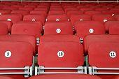 Empty Red Grandstand Stadium Seats