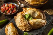 Homemade Stuffed Chicken Empanadas