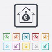 Mortgage sign icon. Real estate symbol.