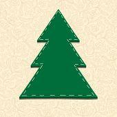 Needlecraft Christmas Tree, vector eps10 illustration