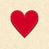Needlecraft Heart, vector eps10 illustration
