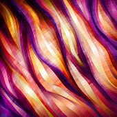 Red Wavy Background, vector eps10 illustration