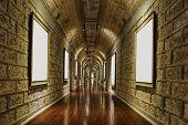 corridor of wine storage basement