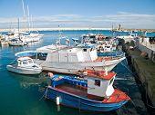 Landscape view of Monopoli port. Apulia.