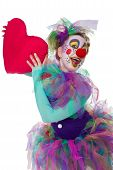 Colorful Clown With Heart